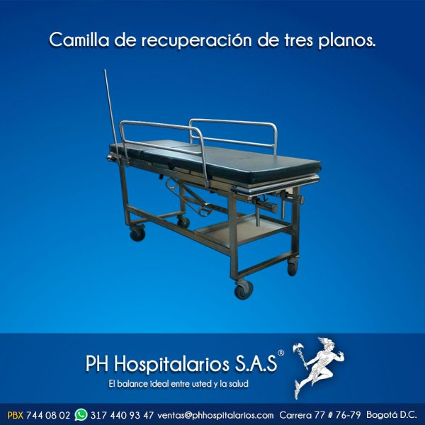 PH Hospitalarios Camilla de recuperación 3 planos