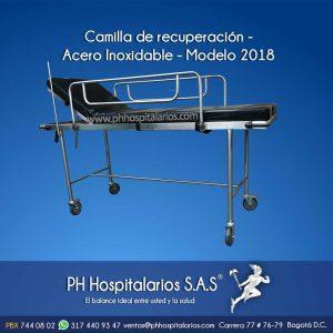 PH Hospitalarios Camilla de recuperación en acero inoxidable