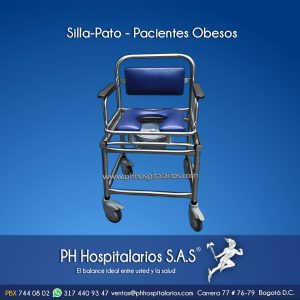 PH Hospitalarios Silla Pato Pacientes obesos