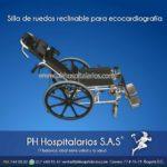 Silla de ruedas reclinable para ecocardiografía