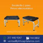 Escalerilla un paso pintura electrostatica-Muebles hospitalarios