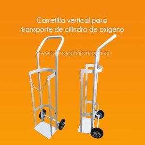 Carretilla vertical para Transporte de cilindro de oxígeno - PH Hospitalarios