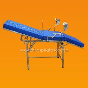 camilla ginecologica con cubeta acero inoxidable - PH Hospitalarios