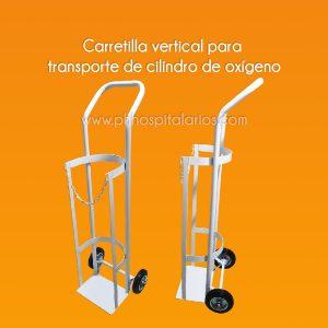 Carretilla vertical para Transporte de cilindro de oxígeno