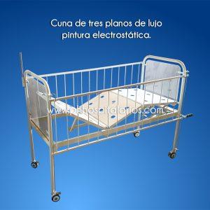 Cuna de 3 planos - pintura electrostática - Muebles Hospitalarios